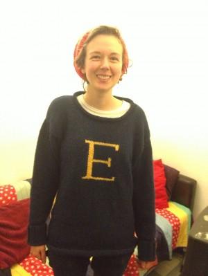 Craft Boss wearing her very own Weasley Sweater!