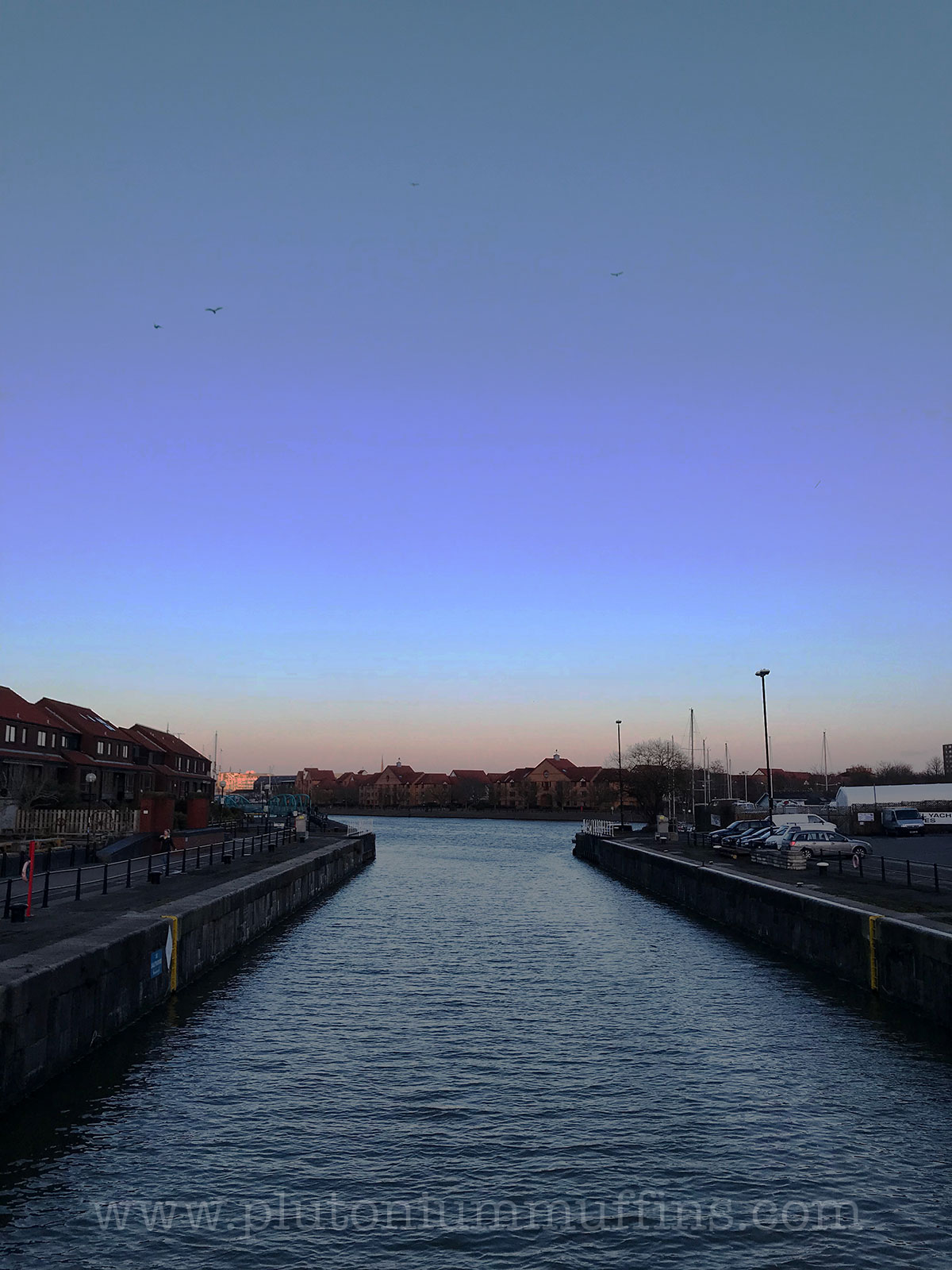 The lock this evening, photo grabbed as I ran past.