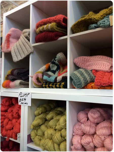 Mrs Moon's new range of yarn, Plump.