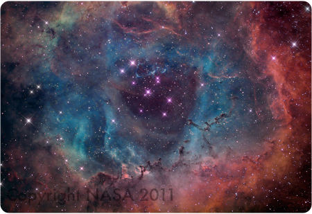 The Rosette Nebula in 2011.