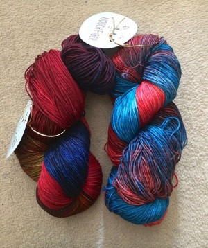 My two skeins of New York yarn.