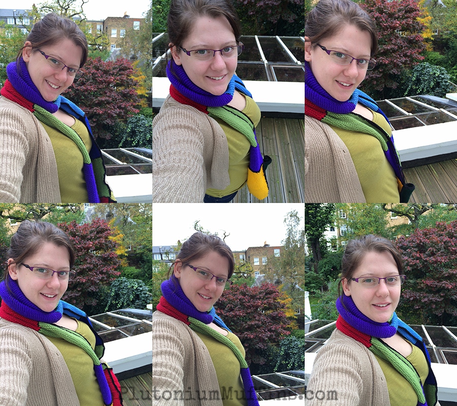 Disastrous selfies - and these are only the non-blurry ones!