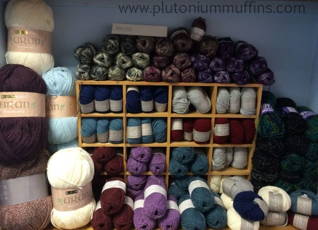 A lovely pile of yarn including Sirdar and Hayfield Bonus Aran.