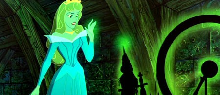 The 'spindle' that Sleeping Beauty (aka Princess Aurora) pricks her finger on.