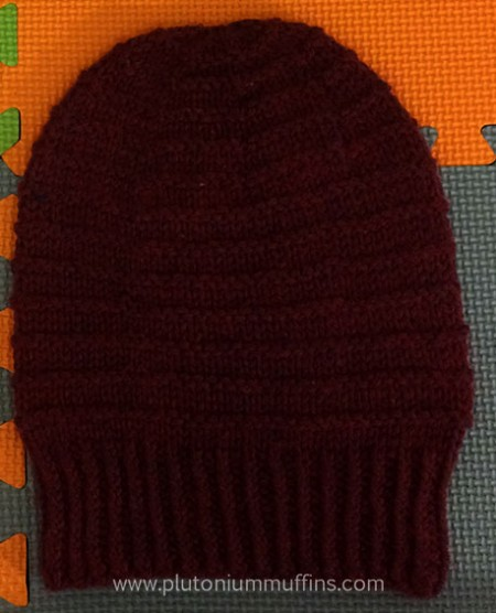 A mulberry slouchy hat.