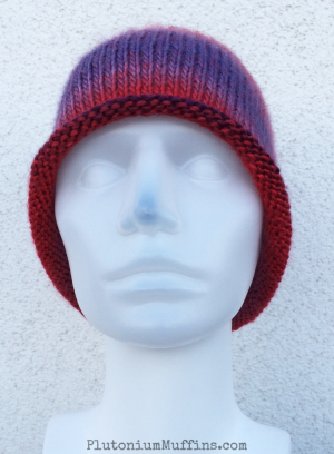 Rubies and Amethysts hat - so called because of the colour of the yarn!