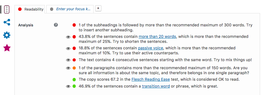 To this day, I don't know what the 'passive voice' is. WordPress has been telling me off about passive voice for years.
