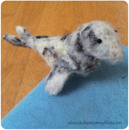 A needle-felted seal!