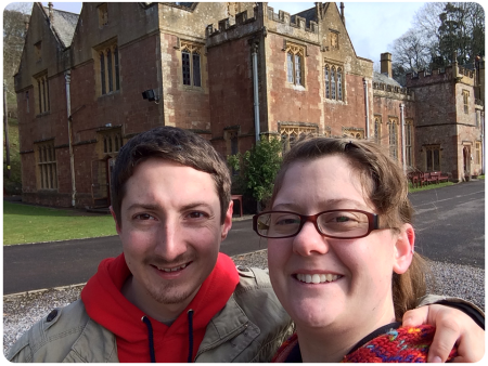 John and me, with the obligatory manor selfie.