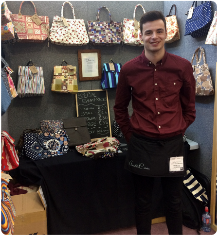 Alex with some of his Serena Ann Collections bags.
