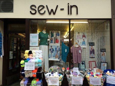 The Sew In of Buxton shop front.