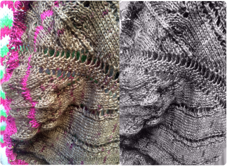 The shawl photos side by side.