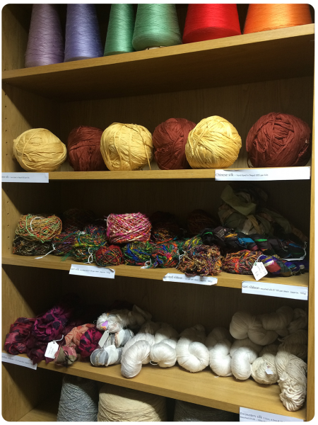 Beautiful silk yarns.