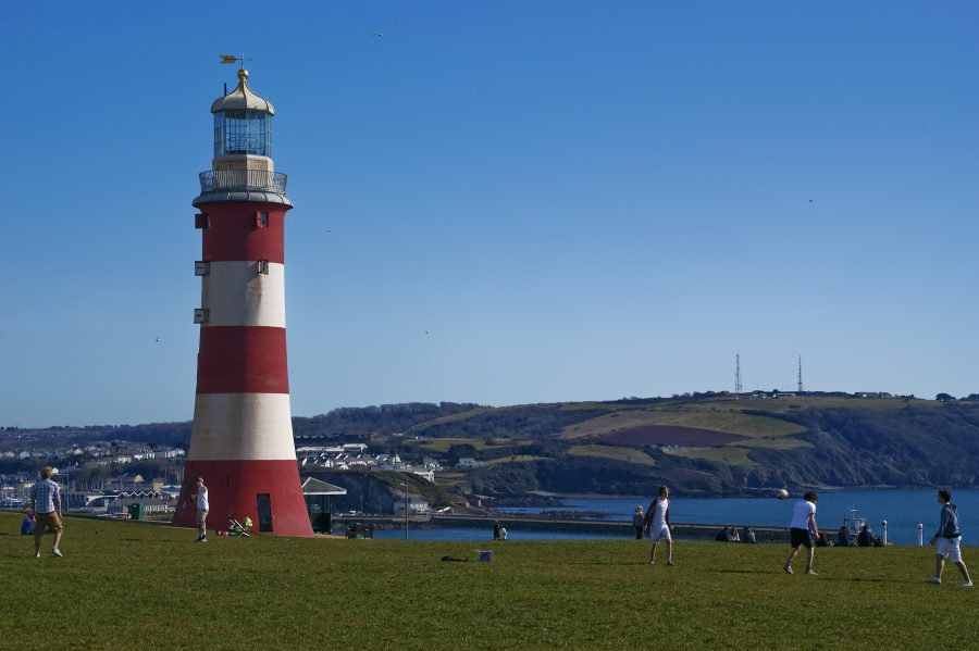 The lighthouse in Plymouth