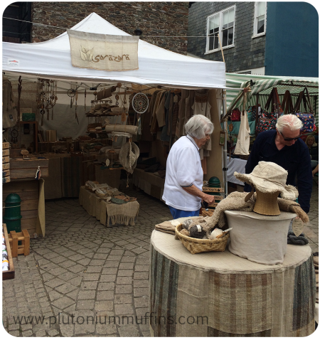 The Sorazora Stand at Totnes Market.