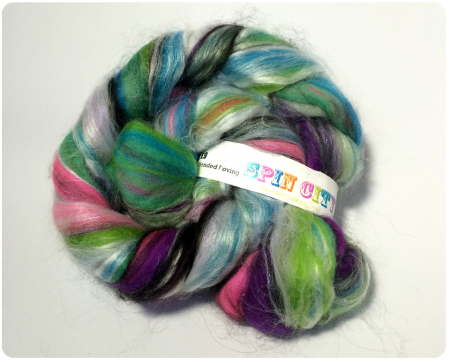My favourite purchase of Unravel...Nebula Fibre from Spin City.
