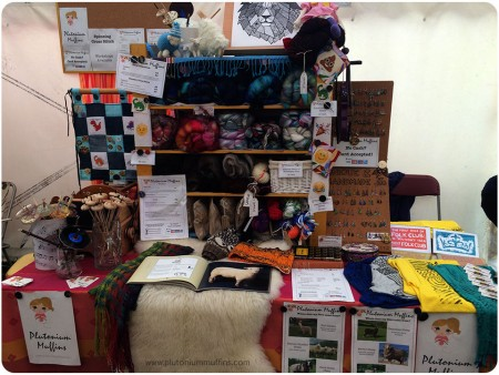 A half-complete, poor photo of my Towersey Stall. Better to come!