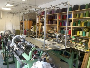 A room full of yarn and knitting machines!