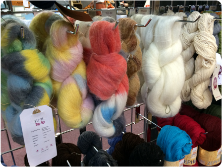 Some gorgeous yarns, what a halo these would produce.