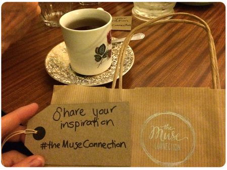 Tea and a Muse Connection goody-bag! See more photos by searching #themuseconnection on Instagram/Twitter.