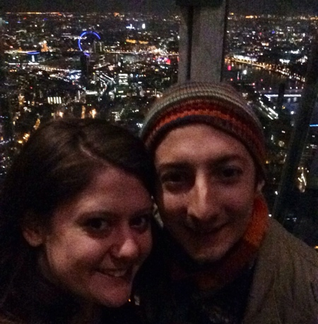 The Happy Couple at the top of the Shard