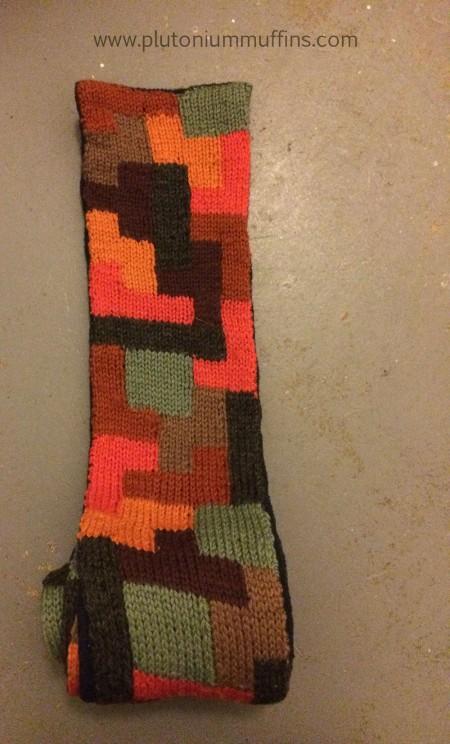 The top of John's tetris scarf.