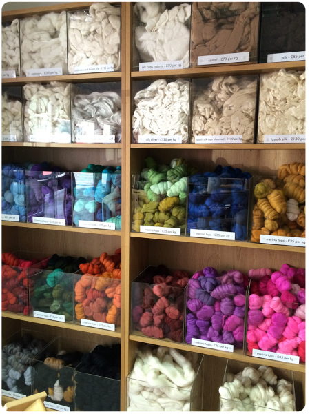 More of the welcoming colourful fibre.