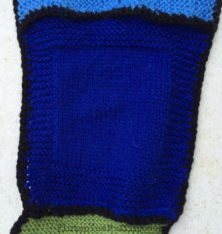 I did say 'lumpy border', right? First ever stocking stitch.