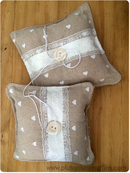 Two ring cushions for the wedding.