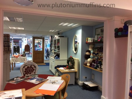View from the back of the shop showing off the beautiful pantone pallet - an unintentional surprise decoration decision!