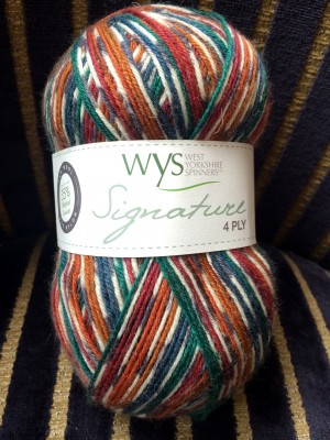 The West Yorkshire Spinners Signature 4 ply yarn.