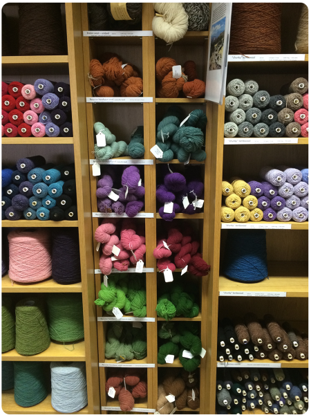 A selection of pure wool yarns.