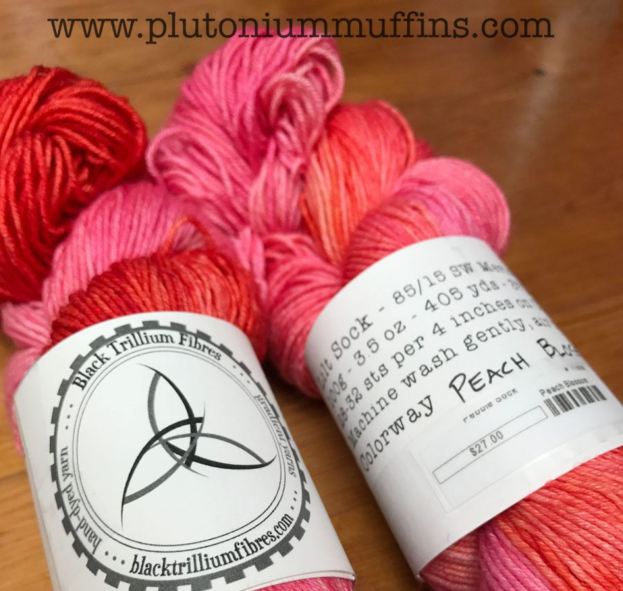 Beautiful squishy yarn from Texas, courtesy of John.