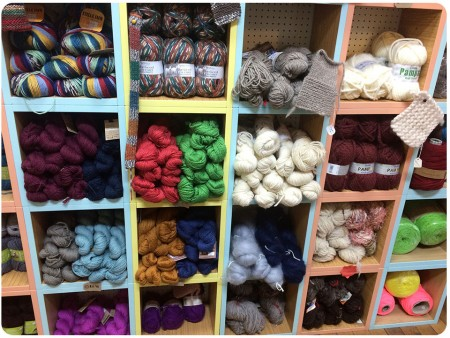 A close-up of my favourite section of the yarns - including West Yorkshire Spinners!