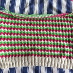 The Zigzag Jumper about half done on the front.