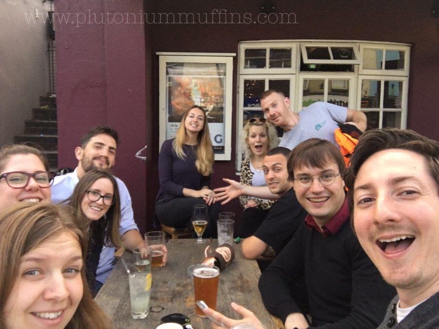 Celebrating my birthday with friends in Bristol!