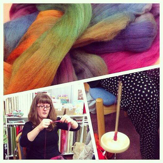 Spinning in Hulu at a craft night.